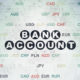 Money concept: Bank Account on Digital Paper background